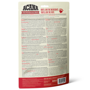 ACANA High Protein Treats Crunchy Beef Liver Recipe Back Right 100g