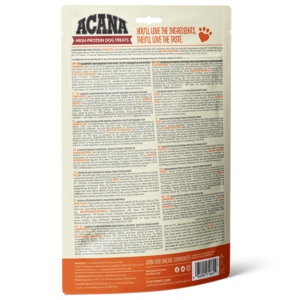 ACANA High Protein Treats Crunchy Turkey Liver Recipe Back Right 100g